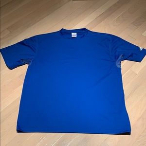 ADIDAS royal blue climalite tee